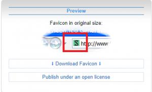 favicon.ccで作成したファビコン画像のプレビューを確認する