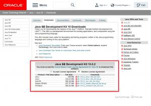 ORACLEのサイトからJDKをダウンロードする方法2