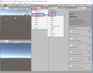 Unityエディタで立方体を追加する