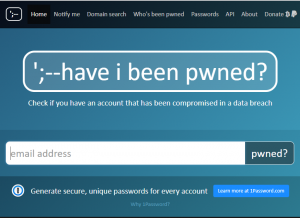 have i been pwnedのトップページ