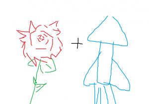 バラライカをバラとイカで表現した画像